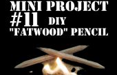 Proyecto mini #11: DIY Fatwood lápiz