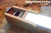 Deslizante pequeño tapa caja con estantes