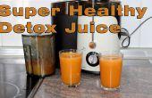 Super saludable zanahoria, naranja y jugo de jengibre receta de desintoxicación