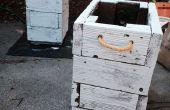 Plantadores de reciclado cubierta de madera