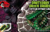 Grotescos gusanos verde