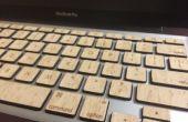 Madera teclas de Macbook (con función de luz de fondo)