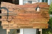 Cabecero de palets de madera