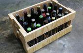Cajón de cerveza de madera
