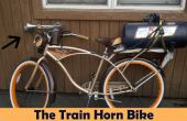 Extremadamente ruidoso tren cuerno bicicleta
