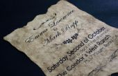 Antiguo Vintage papel invitación de la boda - friki de proyecto #4