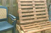Transformar viejas plataformas en un banco del jardín
