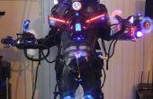 Disfraz de Halloween de Cyborg máquina robótica cibernética especies exóticas Laser fumador LED! LEGIT