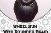 Moño con trenza redonda la rueda