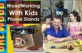 Proyectos de carpintería para niños | Hacer un teléfono o Tablet Stand de madera Psephotus
