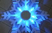 Decoración del copo de nieve LED de luz de efecto barato