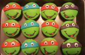 Cupcakes de tortugas ninja