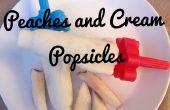 Paletas de crema y los duraznos