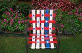 Estrellas y rayas conducto cinta césped silla