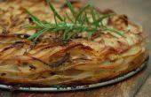 Patata, Romero y cebolla capa cuece al horno