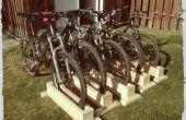Chatarra madera bicicleta soporte (apoyo del uno mismo)