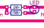 Sencillo cargador de batería de Ni-cad con indicador Led