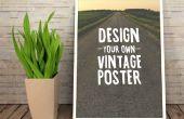 Diseñar un cartel de inspiración Vintage