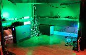 LED Undercabinet o bajo iluminación de escritorio con Dimmer y remoto