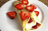 Como crepas de Make Strawberry-Filled