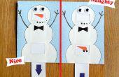 Muñeco de nieve travieso o Niza tarjeta