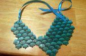 Collar de escala de Dragon de arcilla de polímero