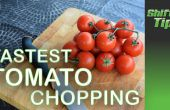 Cómo cortar un montón de tomates