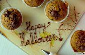 Miedo (ok, lindo) cupcakes araña calabaza