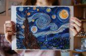 Video - la noche estrellada de Vincent Van Gogh - Quilling animación