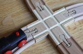 Tren de madera personalizados pista X-cruce