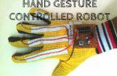 Robot de mano gesto controlado con sonido activado sistema de luz