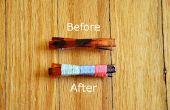 Convertir un pasador liso en un colorido accesorio de pelo