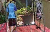 Marco de espejo-fotos DIY vidrieras