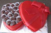 Pastel de caja de bombones de San Valentín