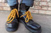 Cordones de los zapatos de fieltro
