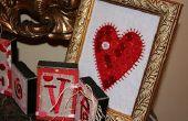 Marco de botón del corazón de San Valentín