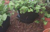 Cómo hacer una jardinera con jaula de tomate