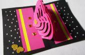 Tarjeta de Kirigami 3D DIY que hace Ideas: Cómo hacer tarjeta pop-up amor de corazón