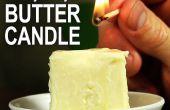 Hacer una vela de mantequilla - emergencia vela estilo McGyver!