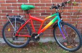 Cambio bicicleta de arco iris w. acrílicos