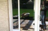 Puerta de cristal corredera de puerta instalación del perro