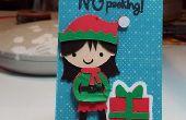 Etiqueta regalo de la Navidad