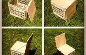 Leche caja silla para camping o actualización de almacenamiento de vinilo