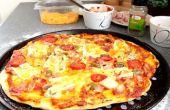 Cómo hacer una 3 queso jamón delicioso Simple Pizza