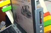 Montaje concentrador USB para laptop