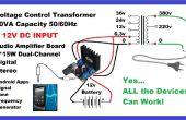 Hacer inversor de AC con la aplicación móvil y amplificador de Audio