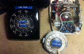 Teléfono rotatorio hecho de baja tecnología inalámbrica.