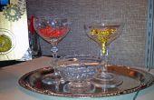 Steampunk - bandeja con copas de cristal