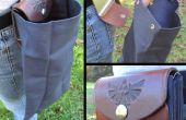 Inspirado en Zelda cuero plegable y bolsa de cinturón de lona