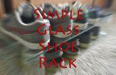 Estante del zapato de cristal simple